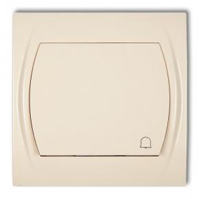 1LWP-4 Przycisk dzwonkowy beżowy LOGO KARLIK