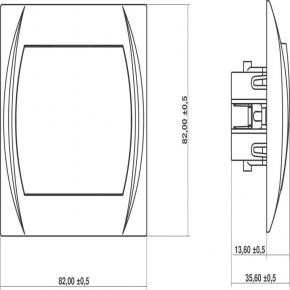 7LWP-4L Przycisk dzwonkowy srebrny z podświetleniem LOGO KARLIK
