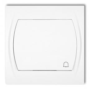 LWP-4L Przycisk dzwonkowy biały z podświetleniem LOGO KARLIK