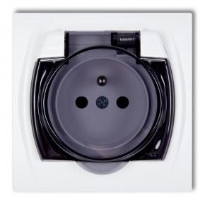 LGPB-1zd Gniazdo hermetyczne z dymną klapką LOGO KARLIK