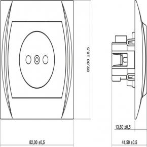 LGP-1 Mechanizm gniazda pojedynczego bez uziemienia LOGO KARLIK