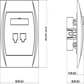 Gniazdo telefoniczne pojedyncze LGT-1 1xRJ11, 4-stykowy LOGO KARLIK