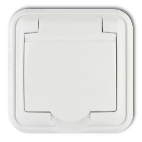 GPH-1z Białe gniazdo hermetyczne z klapką LIZA KARLIK