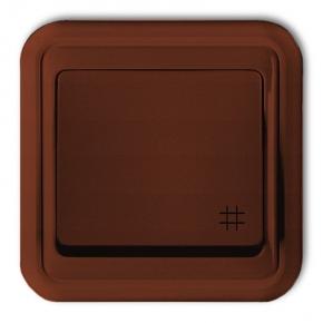 4WPT-6 Włącznik krzyżowy podtynkowy brązowy LIZA KARLIK