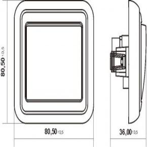 1WPT-3 Wyłącznik schodowy pojedynczy beżowy LIZA KARLIK