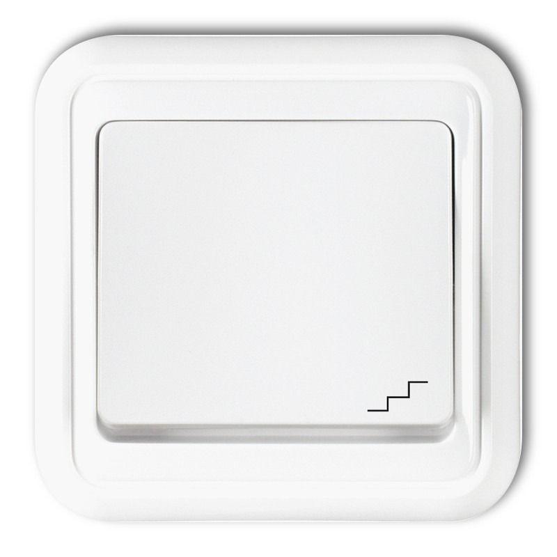 WPT-3 Wyłącznik schodowy biały LIZA KARLIK