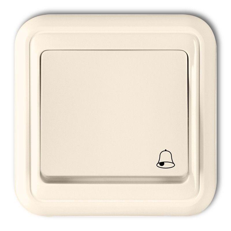 1WPT-4 Przycisk dzwonkowy zwierny beżowy LIZA KARLIK