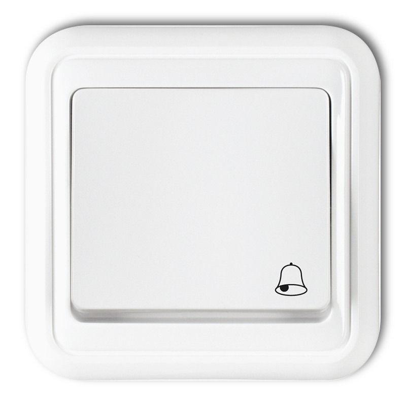 WPT-4 Przycisk dzwonkowy zwierny biały LIZA KARLIK