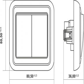 Przełącznik podwójny do żyrandoli beżowy 1WPT-2 LIZA KARLIK