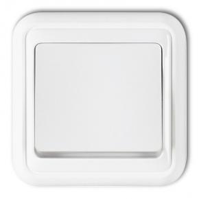 Przełącznik z podświetleniem pojedynczy biały podtynkowy WPT-1L LIZA KARLIK