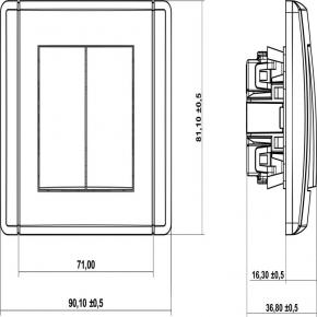 Włącznik świecznikowy 11FWP-2 GRAFIT FLEXI KARLIK