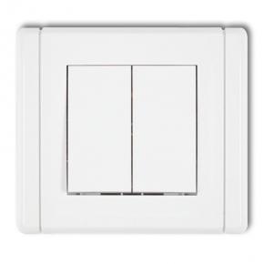 Wylaczniki-podwojne - włącznik świecznikowy fwp-2 biały flexi karlik