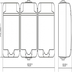 GHE-3 Gniazdo potrójne białe z klapką natynkowe JUNIOR KARLIK
