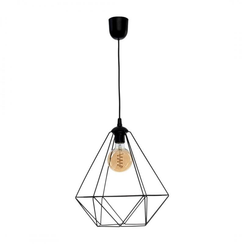 Lampy-sufitowe - lampa wisząca industrialna w kolorze czarnym 1xe27 basket mlp7214 eko-light firmy EKO-LIGHT
