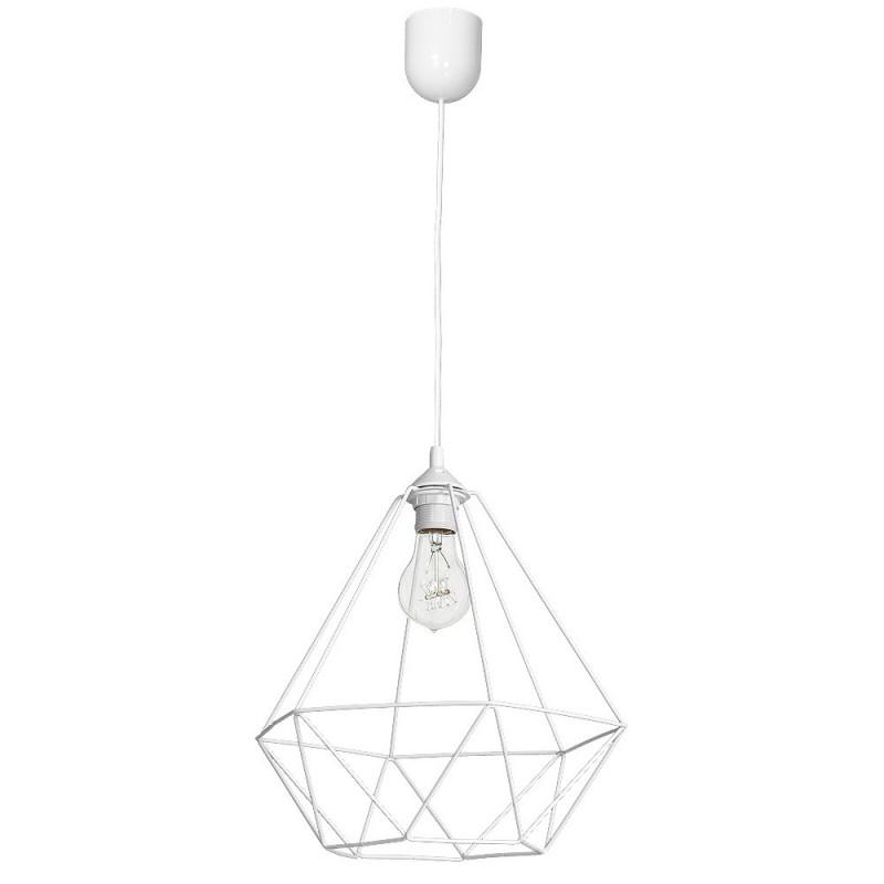 Lampy-sufitowe - delikatna lampa wisząca o ażurowym kloszu 1xe27 basket mlp7212 eko-light firmy EKO-LIGHT