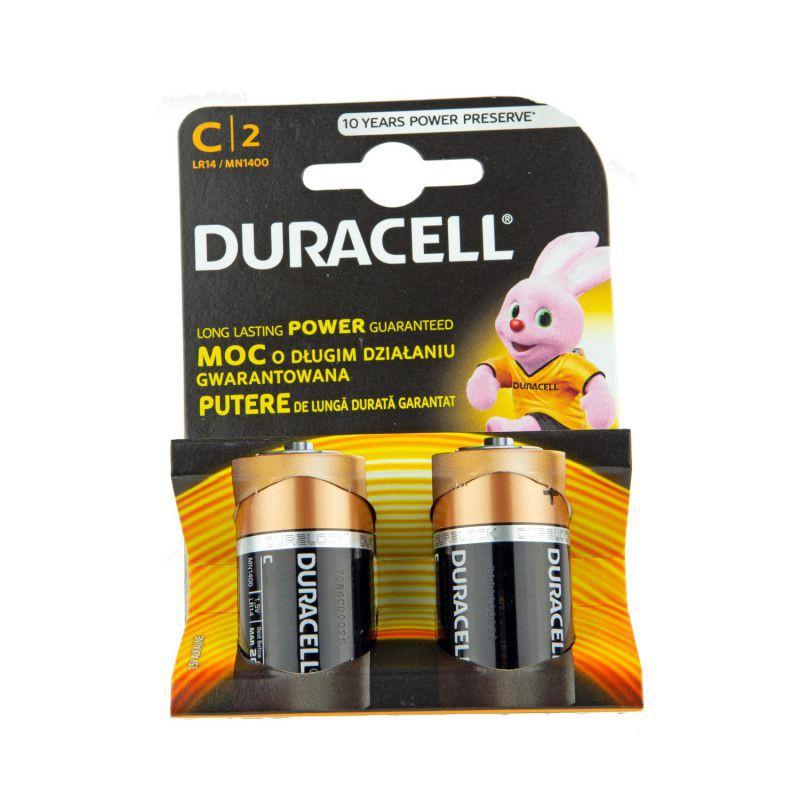 Baterie alkaliczne 1,5V LR14 DURACELL
