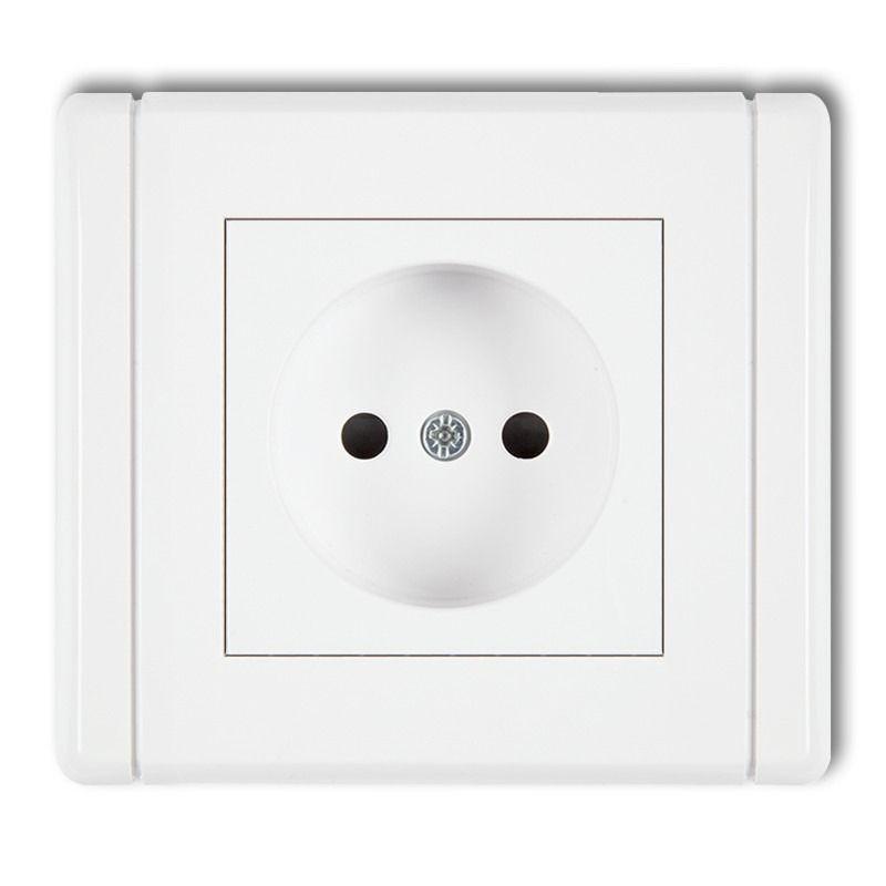 Gniazda-elektryczne - gniazdo pojedyncze bez uziemienia fgp-1 1x b/u flexi karlik firmy Karlik