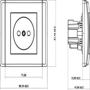Gniazda-elektryczne - gniazdo pojedyncze bez uziemienia fgp-1 1x b/u flexi karlik