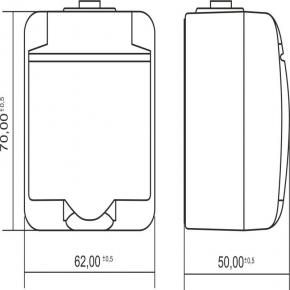 4GHE-1 Brązowe gniazdo z klapką natynkowe hermetyczne JUNIOR KARLIK