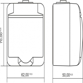 GHE-1 Białe gniazdo z klapką natynkowe hermetyczne JUNIOR KARLIK