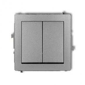Włącznik świecznikowy 7DWP-2 2x SREBRO MET DECO KARLIK