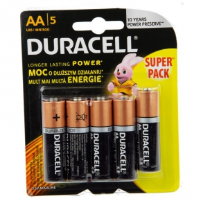Baterie alkaliczne AA BL5 LR6 SUPER PACK DURACELL