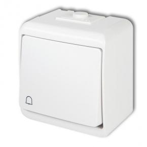 WHE-4L Biały przycisk dzwonkowy natynkowy z podświetleniem hermetyczny