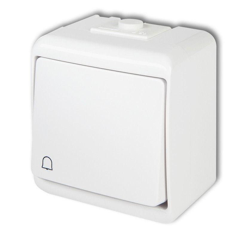 Wlaczniki-i-przyciski-dzwonkowe - biały przycisk dzwonkowy natynkowy zwierny whe-4 junior karlik firmy Karlik