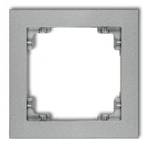 Srebrna metaliczna ramka na kontakty i wyłączniki 7DR-1 DECO KARLIK