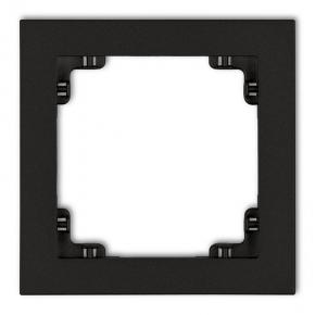 12DR-1 Ramka pojedyncza do linii DECO KARLIK czarna matowa