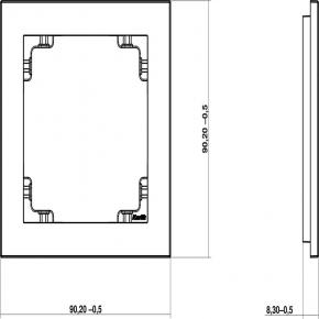 Ramki-pojedyncze - 12dr-1 ramka pojedyncza do linii deco karlik czarna matowa