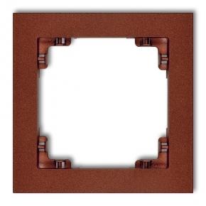 9DR-1 Ramka pojedyncza DECO KARLIK brązowy metalik