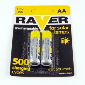 Akumulatorki AA do lamp solarnych B7426 HR06/B2 600 mAh RAVER EMOS