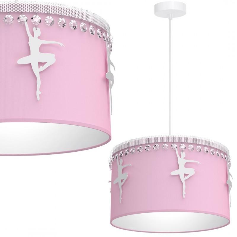 Oswietlenie-do-pokoju-dzieciecego - lampa sufitowa różowa baletnica do pokoju dziewczynki 1xe27 eko-light firmy EKO-LIGHT