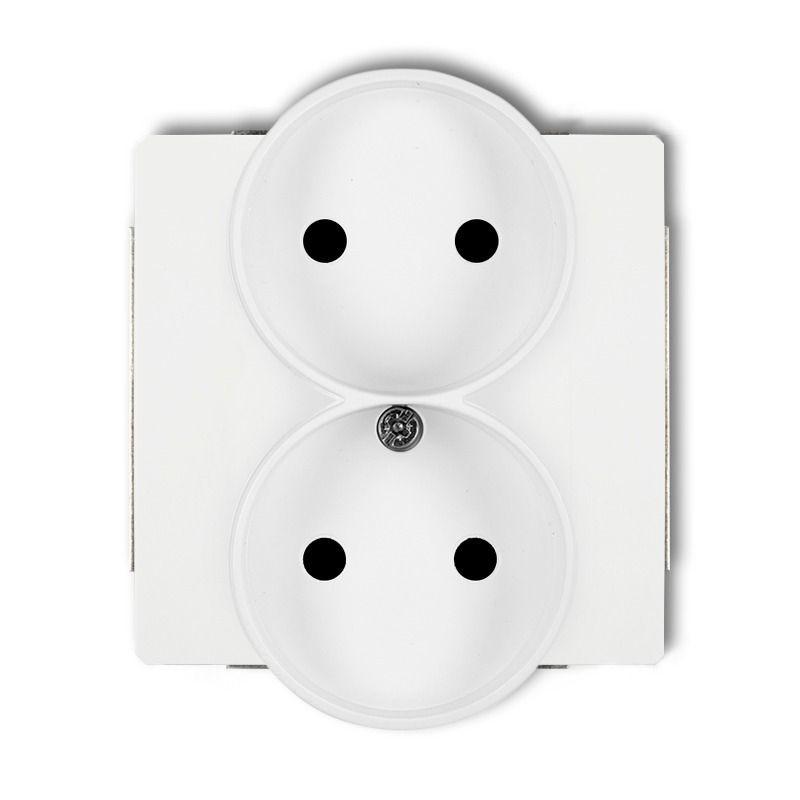 DGPR-2 DECO KARLIK Biały kontakt podwójny bez uziemienia