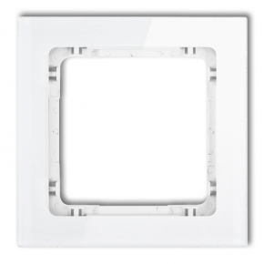 Ramka pojedyncza do kontaktu efekt szkła biała 0-0-DRS-1 DECO KARLIK