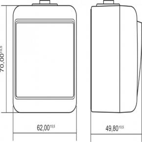 4WHE-3 Wyłącznik klatkowy brązowy IP54 natynkowy Junior Karlik
