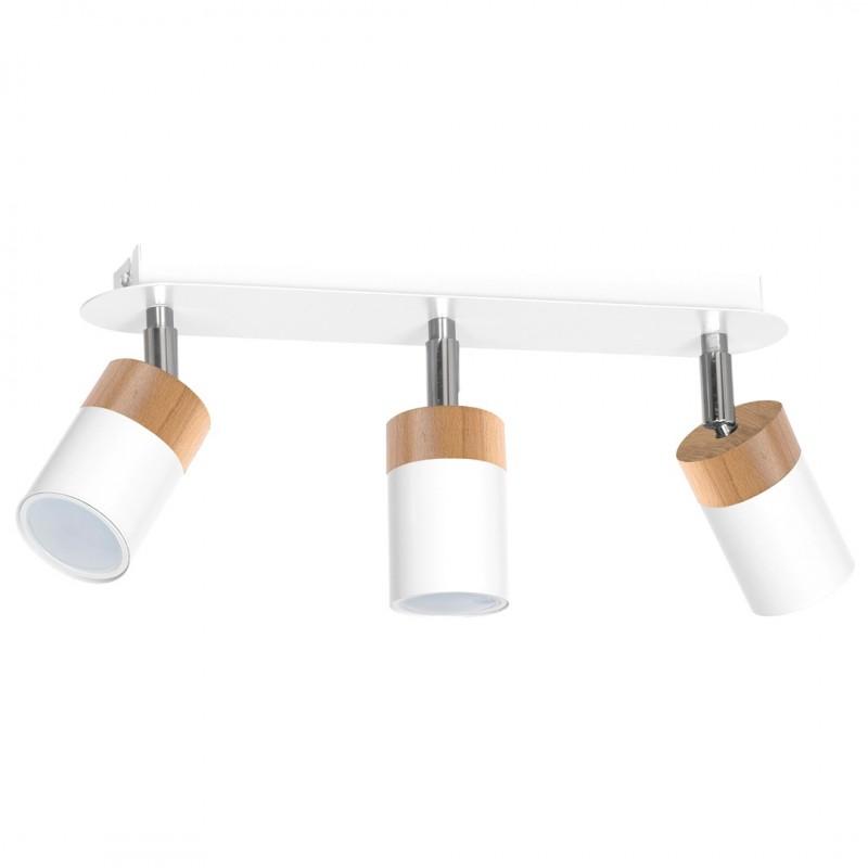 Lampy-sufitowe - potrójny spot oświetleniowy biały na trzy żarówki gu10 joker mlp6300 eco-light firmy EKO-LIGHT