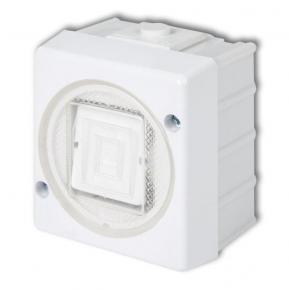 WHS-1 Włącznik jednobiegunowy biały IP44 natykowy Senior Karlik