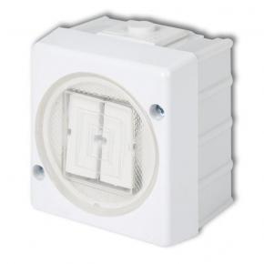WHS-2 Włącznik do żyrandoli świecznikowy biały IP44 natynkowy Senior Karlik