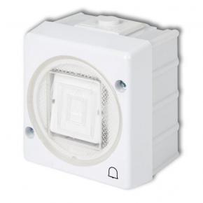 WHS-4 Przycisk Dzwonkowy biały IP44 natykowy Senior Karlik