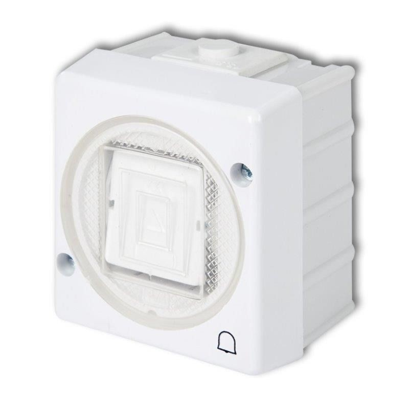 Wlaczniki-i-przyciski-dzwonkowe - whs-4 przycisk dzwonkowy biały ip44 natykowy senior karlik firmy Karlik