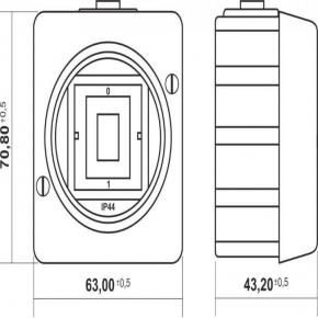 WHS-3 Włącznik elektryczny schodowy biały IP44 natynkowy Senior Karlik