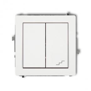 DWP-10 Biały włącznik 1x + schodowy KARLIK DEKO