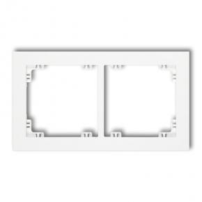 Ramka pozioma do kontaktów podwójna biała DR-2 DECO KARLIK