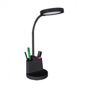 Lampki-biurkowe - lampka biurkowa led w kolorze czarnym z przybornikiem 8w ściemnialna labor led 03824 ideus
