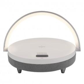 Lampki-nocne - lampka z funkcją bezprzewodowego ładowania telefonu i głośnikiem bluetooth saturn ideus