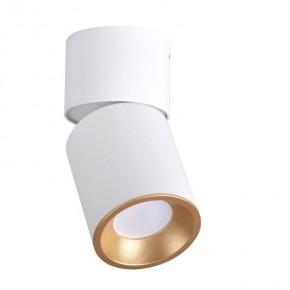 Oprawy-sufitowe - oczko przegubowe natynkowe na żarówkę gu10 nixa biało-złota polux