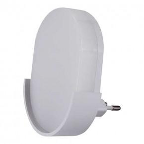 Lampki-do-kontaktu - lampka wtykowa led do kontaktu z czujnikiem zmierzchu podłużna 6500k beza led 03897 ideus
