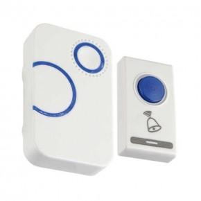 Dzwonki-do-drzwi-bezprzewodowe - dzwonek bezprzewodowy biały/niebieski na baterie nutka 03894 ideus